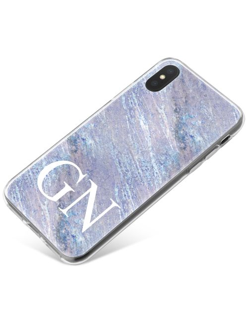 Grey & Ice Blue Marble phone case available for all major manufacturers including Apple, Samsung & Sony