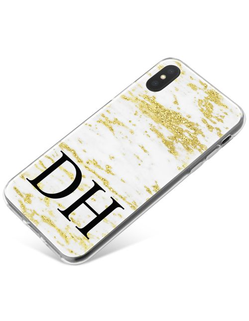 White & Gold Marble phone case available for all major manufacturers including Apple, Samsung & Sony