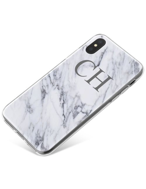 White & Grey Marble phone case available for all major manufacturers including Apple, Samsung & Sony