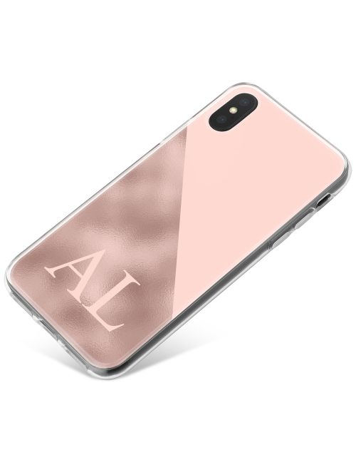 Pink Marble with a Pink Triangle phone case available for all major manufacturers including Apple, Samsung & Sony
