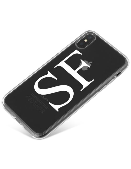 White lettering on a clear case phone case available for all major manufacturers including Apple, Samsung & Sony