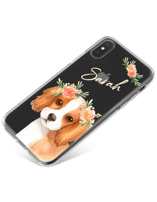 Beagle with Flowers phone case available for all major manufacturers including Apple, Samsung & Sony