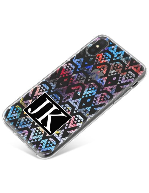 Multi-Coloured Triangles within Shapes phone case available for all major manufacturers including Apple, Samsung & Sony