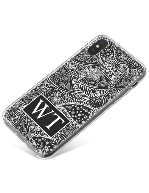 White Leaves Pattern phone case available for all major manufacturers including Apple, Samsung & Sony
