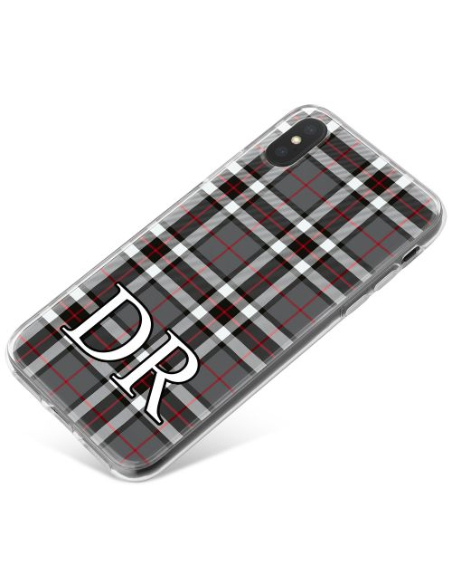 Black, White and Red Tartan Pattern phone case available for all major manufacturers including Apple, Samsung & Sony