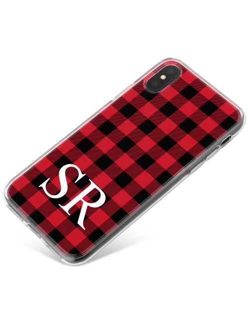 Red and Black Tartan phone case available for all major manufacturers including Apple, Samsung & Sony
