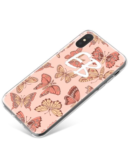 Pink and Yellow Butterflies phone case available for all major manufacturers including Apple, Samsung & Sony
