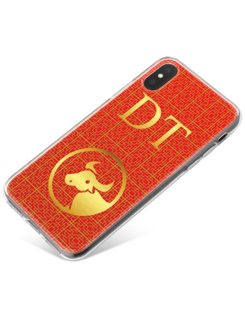 Chinese Zodiac- Year of the Ox phone case available for all major manufacturers including Apple, Samsung & Sony