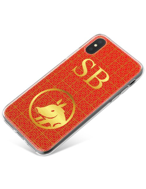 Chinese Zodiac- Year of the Pig phone case available for all major manufacturers including Apple, Samsung & Sony