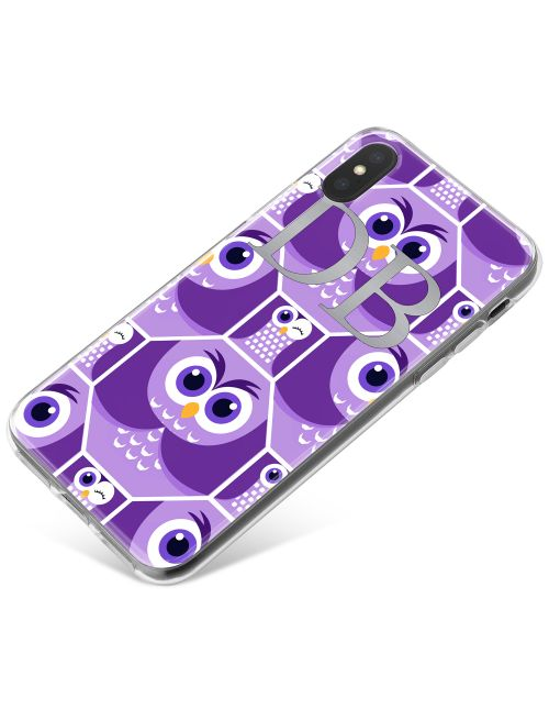 Purple Owls in Octagons phone case available for all major manufacturers including Apple, Samsung & Sony