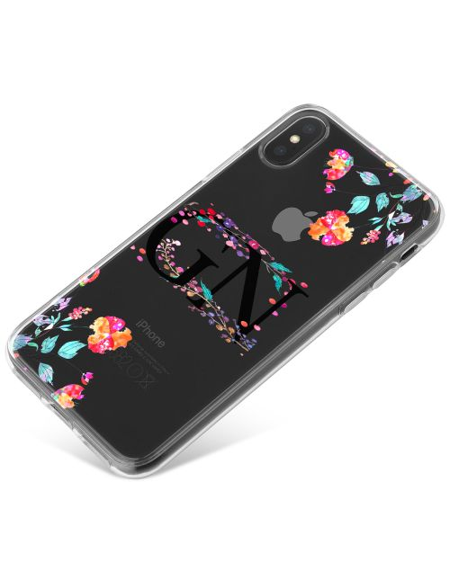 Transparent with Multi-coloured Flowers phone case available for all major manufacturers including Apple, Samsung & Sony