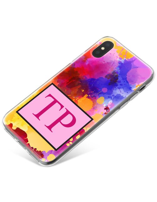 Multi-coloured Splashes of Watercolours phone case available for all major manufacturers including Apple, Samsung & Sony