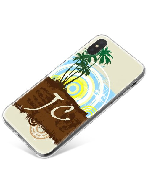 Stylised Palm Trees phone case available for all major manufacturers including Apple, Samsung & Sony
