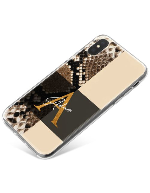 Rattlesnake Print With Divide phone case available for all major manufacturers including Apple, Samsung & Sony