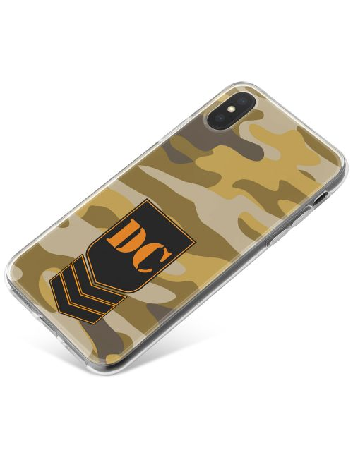 Dark Desert Camo phone case available for all major manufacturers including Apple, Samsung & Sony