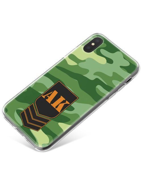 Green Camo phone case available for all major manufacturers including Apple, Samsung & Sony