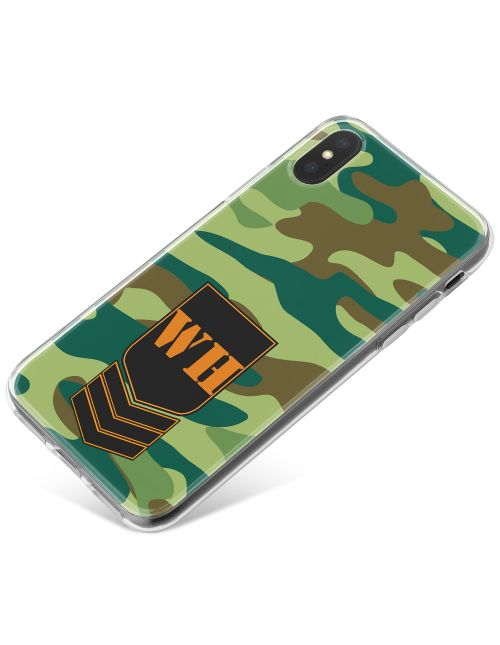 Green Jungle Camo phone case available for all major manufacturers including Apple, Samsung & Sony