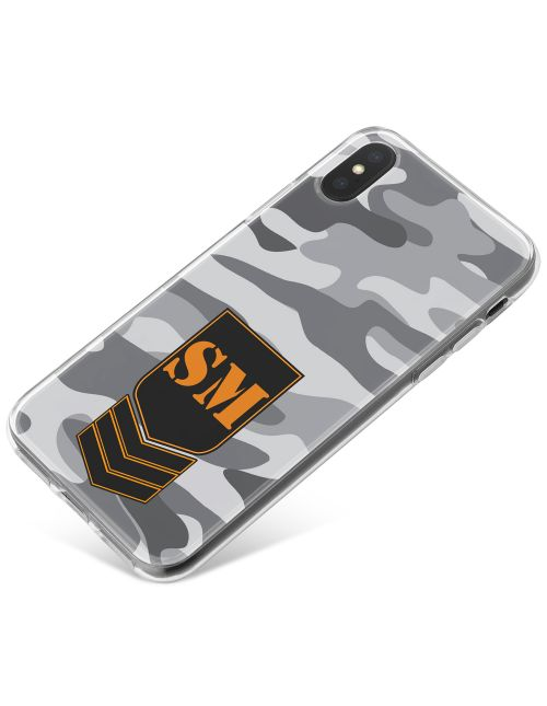 Grey Camo phone case available for all major manufacturers including Apple, Samsung & Sony