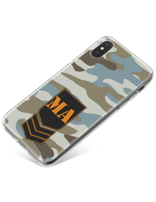 Grey?Blue Camo phone case available for all major manufacturers including Apple, Samsung & Sony