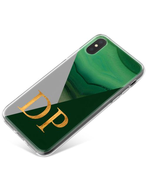 Geometric Emerald And Jade Agate phone case available for all major manufacturers including Apple, Samsung & Sony