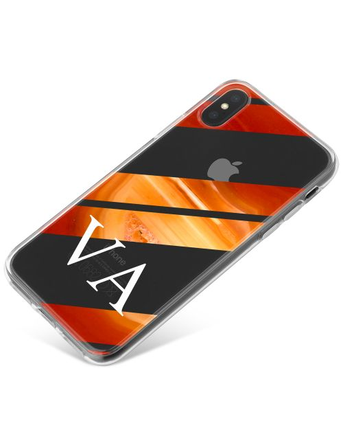 Orange And Golden Stripe Agate phone case available for all major manufacturers including Apple, Samsung & Sony