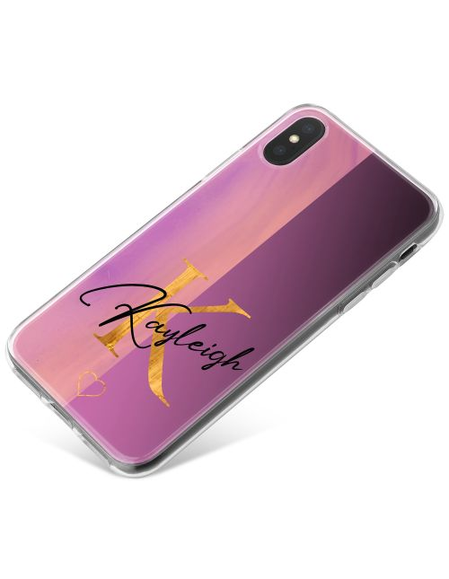 Half Cool Pink, Half Purple phone case available for all major manufacturers including Apple, Samsung & Sony