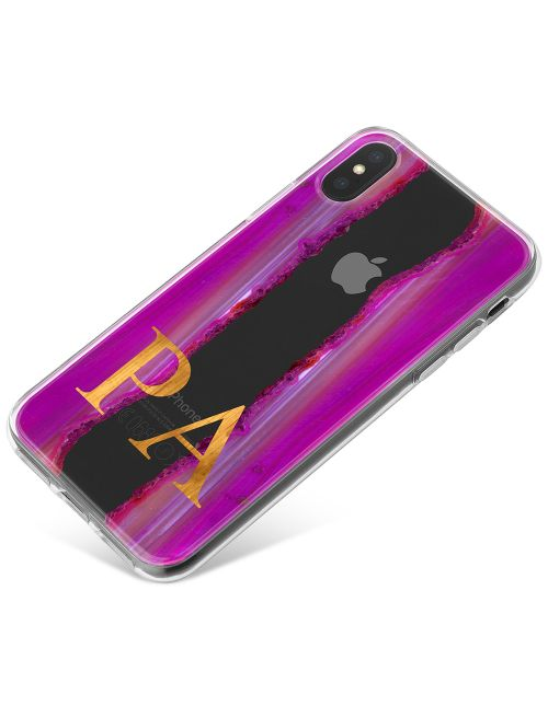 Pink And Purple Sliced Agate phone case available for all major manufacturers including Apple, Samsung & Sony
