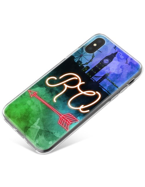 Neon Sign On London Skyline phone case available for all major manufacturers including Apple, Samsung & Sony