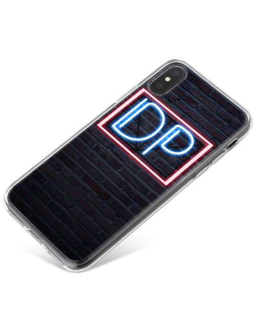 Red & Blue Neon Sign phone case available for all major manufacturers including Apple, Samsung & Sony
