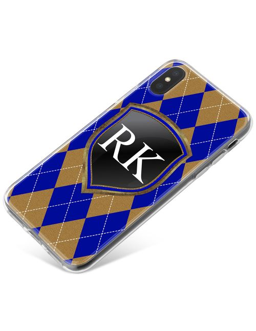 Blue And Bronze Coats Of Arms phone case available for all major manufacturers including Apple, Samsung & Sony