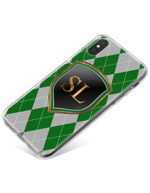 Green And Silver Coats Of Arms phone case available for all major manufacturers including Apple, Samsung & Sony