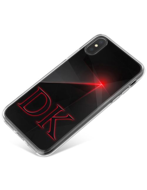 Black And Red Geometric Pinpoint phone case available for all major manufacturers including Apple, Samsung & Sony