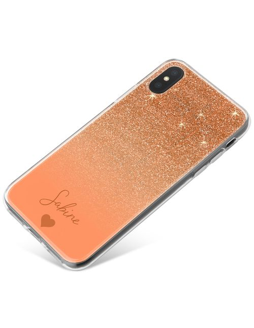 Rose Gold And Pink Glitter Effect phone case available for all major manufacturers including Apple, Samsung & Sony
