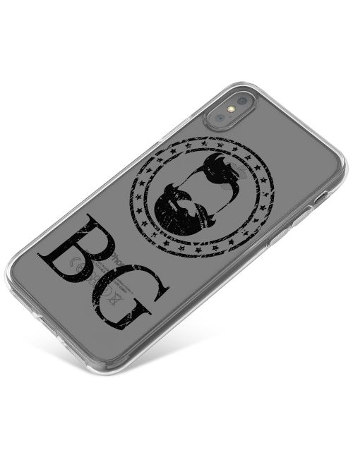 Hipster Beard With Handlebar Moustache phone case available for all major manufacturers including Apple, Samsung & Sony