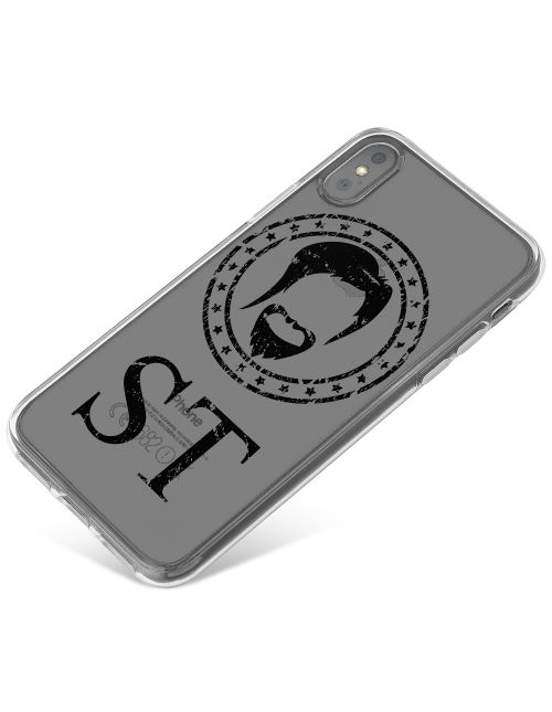 Hipster Beard With A Modern Twist phone case available for all major manufacturers including Apple, Samsung & Sony