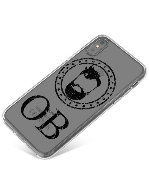 Full Face Hipster Beard phone case available for all major manufacturers including Apple, Samsung & Sony