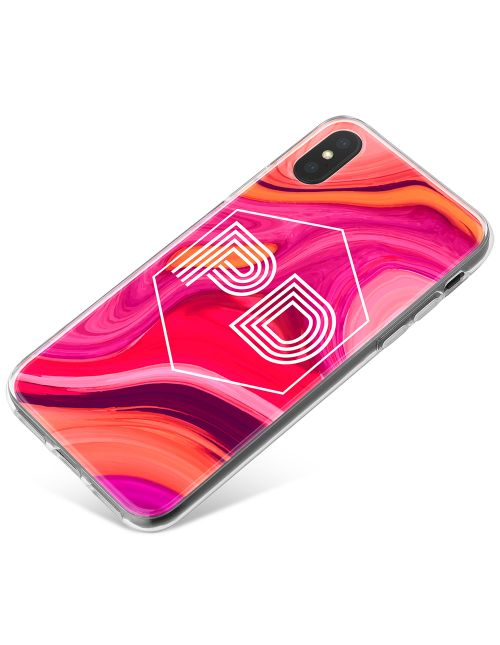 Pink Gold And Purple Marbled Ink phone case available for all major manufacturers including Apple, Samsung & Sony