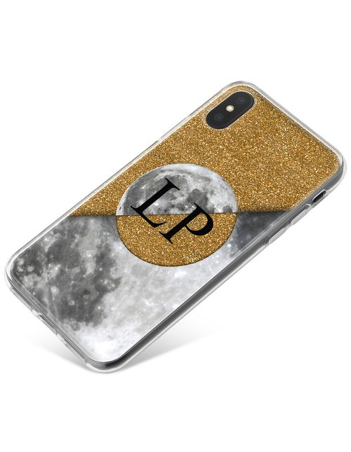 Golden Moon Split In Half phone case available for all major manufacturers including Apple, Samsung & Sony