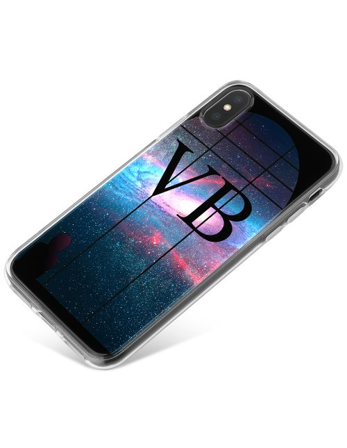 Window Looking Out On A Purple Galaxy phone case available for all major manufacturers including Apple, Samsung & Sony