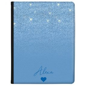 Blue Glitter Effect tablet case available for all major manufacturers including Apple, Samsung & Sony