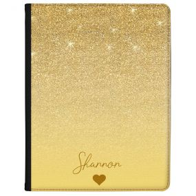 Golden Glitter Effect tablet case available for all major manufacturers including Apple, Samsung & Sony