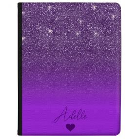 Purple Glitter Effect tablet case available for all major manufacturers including Apple, Samsung & Sony