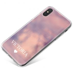 Dark Pink Watercolour effect phone case available for all major manufacturers including Apple, Samsung & Sony