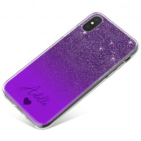 Purple Glitter Effect phone case available for all major manufacturers including Apple, Samsung & Sony