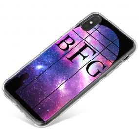 Window Looking Out On A Violet Galaxy phone case available for all major manufacturers including Apple, Samsung & Sony