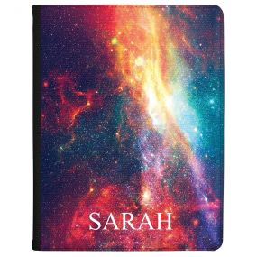 Vibrant Red Galaxy Design tablet case available for all major manufacturers including Apple, Samsung & Sony