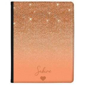 Rose Gold And Pink Glitter Effect tablet case available for all major manufacturers including Apple, Samsung & Sony
