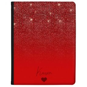 Ruby Red Glitter Effect tablet case available for all major manufacturers including Apple, Samsung & Sony