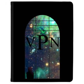 Window Looking Out On A Green Galaxy tablet case available for all major manufacturers including Apple, Samsung & Sony