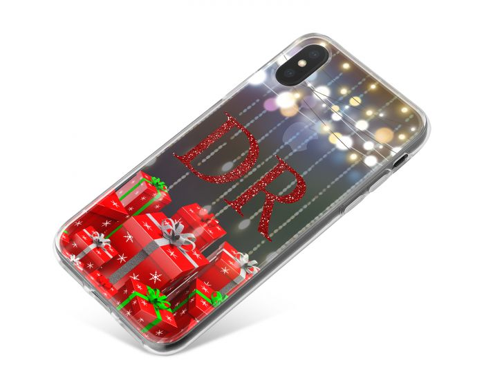 Christmas Gifts and Festive Lights on a Transparent Background phone case available for all major manufacturers including Apple, Samsung & Sony